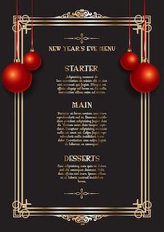 Elegante menu di capodanno