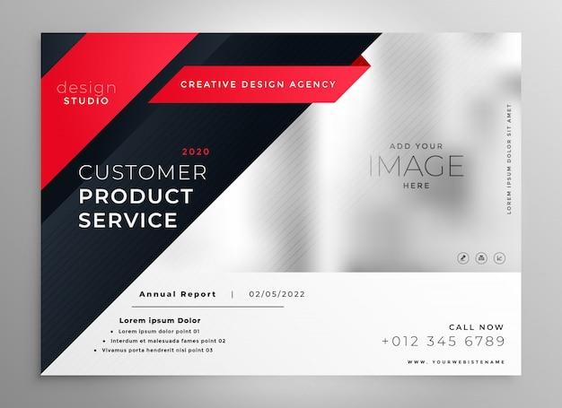 Elegante modello di brochure moderno rosso