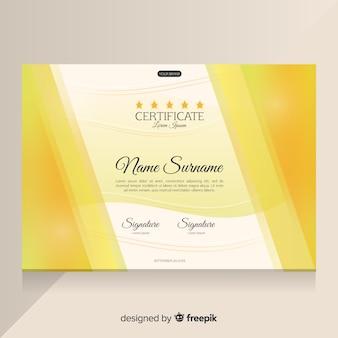 Elegante modello di certificato d'oro