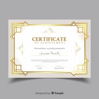 Elegante modello di certificato ornamentale