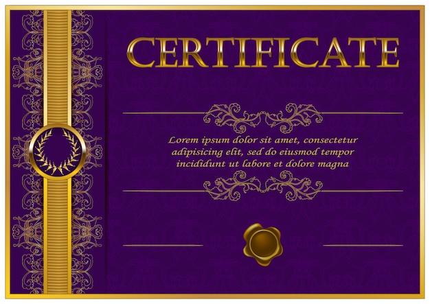 Elegante modello di certificato