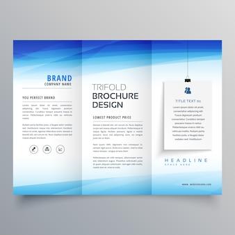 Elegante modello di design brochure trifold