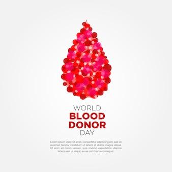 Elegante mondo del donatore di sangue giorno sfondo