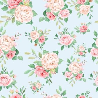 Elegante motivo floreale senza soluzione di continuità