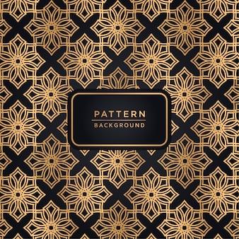 Elegante motivo ornamentale sfondo in colore oro
