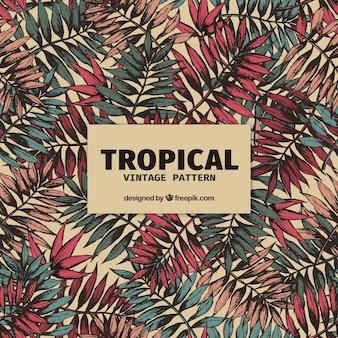 Elegante motivo tropicale con stile vintage