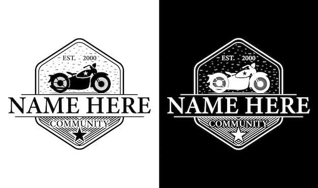 Elegante moto vintage retro logo design ispirazione
