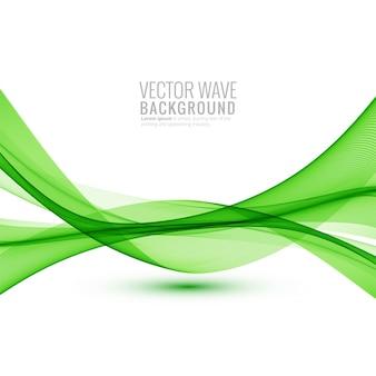 Elegante onda verde creativa