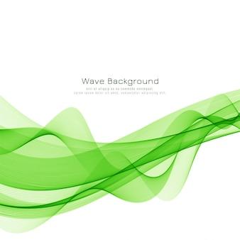 Elegante onda verde