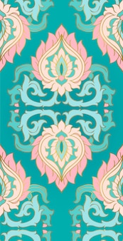 Elegante ornamento turchese per tessuti.