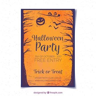 Elegante party di halloween con stile retrò