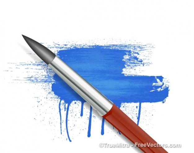 Elegante pennello su colpo di blu