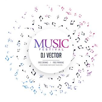 Elegante poster musicale con note