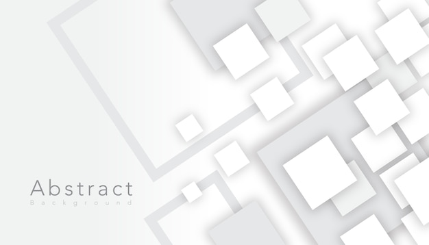 Elegante quadrato bianco astratto