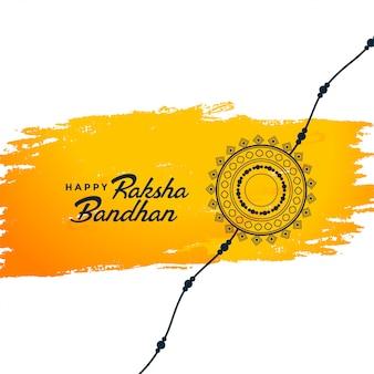 Elegante raksha bandhan festival indiano sullo sfondo