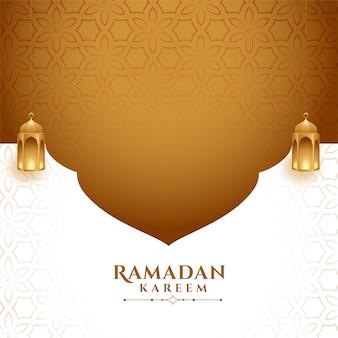 Elegante ramadan kareem sfondo con lo spazio del testo