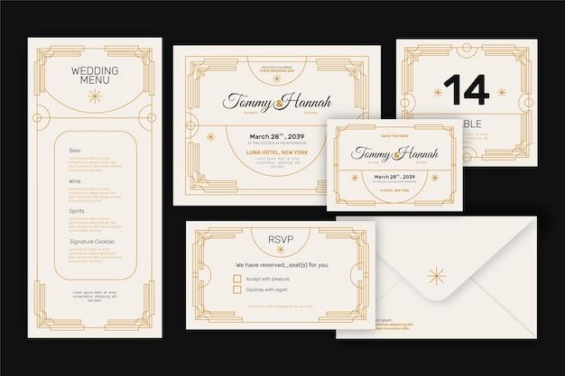 Elegante set di cancelleria per matrimoni