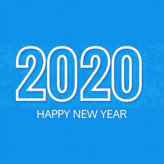 Elegante sfondo 2020 testo anno nuovo