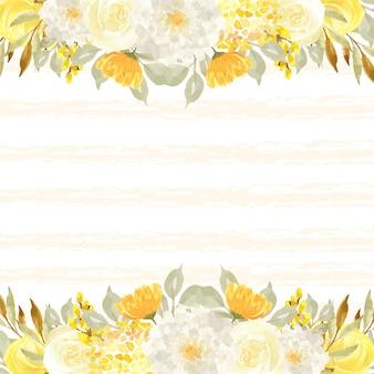 Elegante sfondo autunnale con foglie e fiori