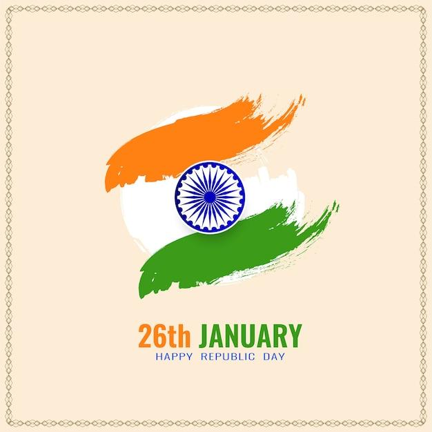 Elegante sfondo bandiera indiana per la celebrazione della festa della repubblica