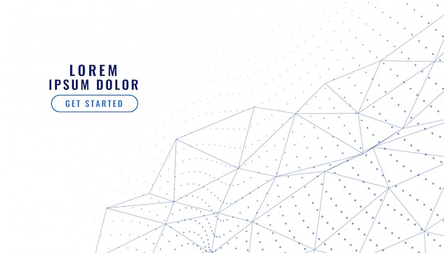 Elegante sfondo bianco basso poli linee connessione