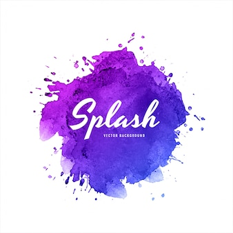 Elegante sfondo colorato acquerello splash