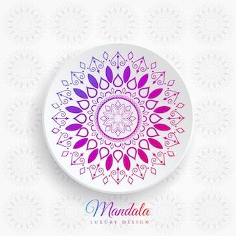 Elegante sfondo colorato mandala