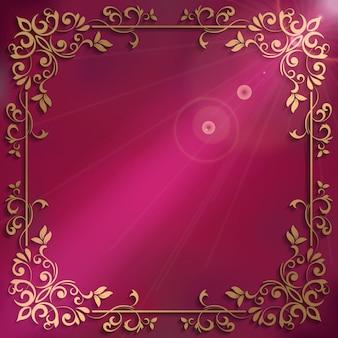 Elegante sfondo con cornice decorativa