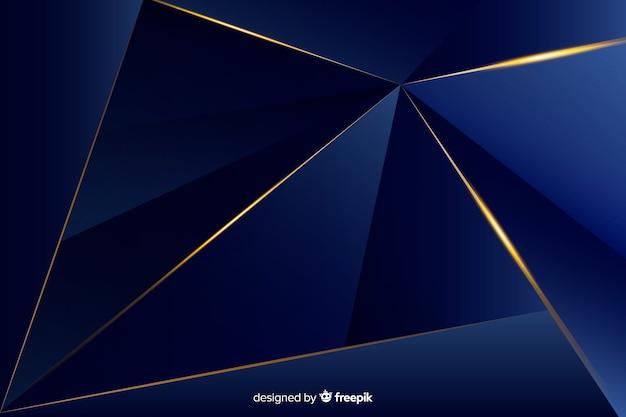 Elegante sfondo decorativo poligonale scuro