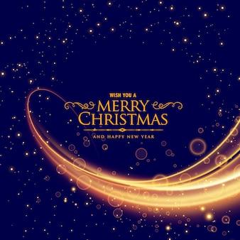 Elegante sfondo di Natale allegro con effetto onda incandescente