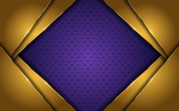 Elegante sfondo oro e viola di lusso