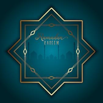 Elegante sfondo per il ramadan kareem