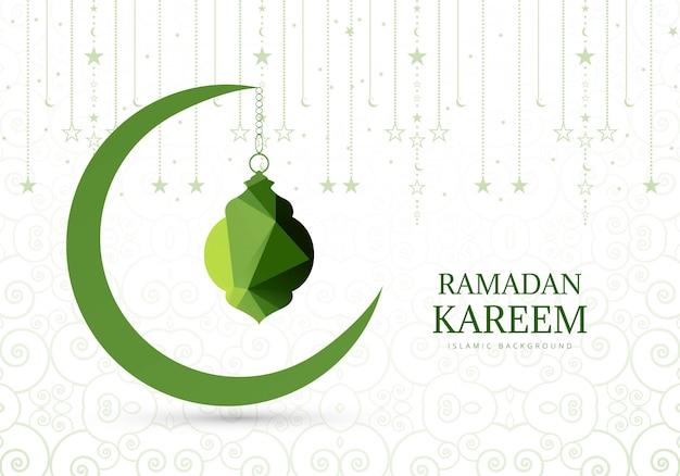 Elegante sfondo per la carta ramadan kareem