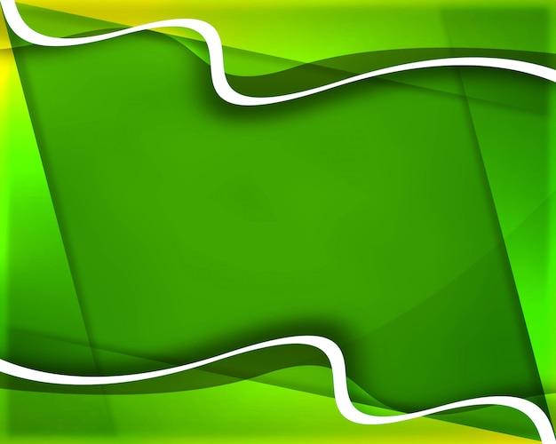 Elegante sfondo verde onda creativa