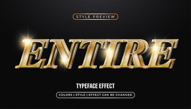 Elegante testo in oro con effetto 3d