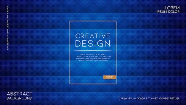 Elegante trama geometrica astratta su sfondo blu caldo