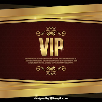 Elegante vip background dorato