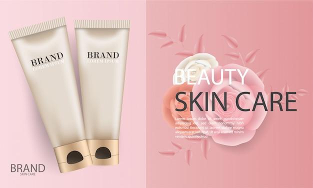 Eleganti annunci cosmetici per la cura della pelle