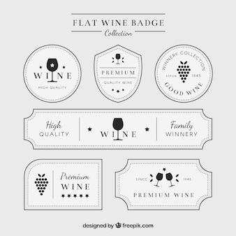 Eleganti etichette di vini bianchi