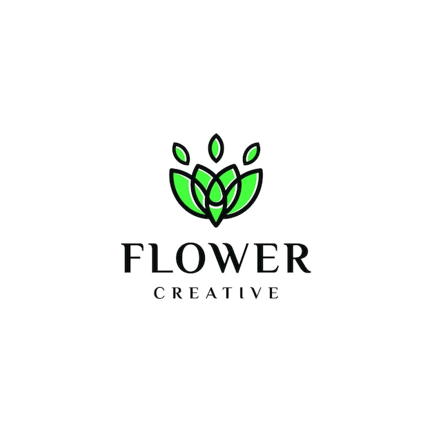 Eleganti fiori con logo