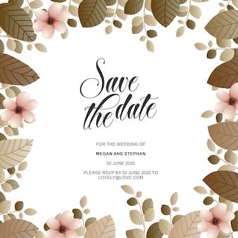 Eleganti inviti di nozze floreali