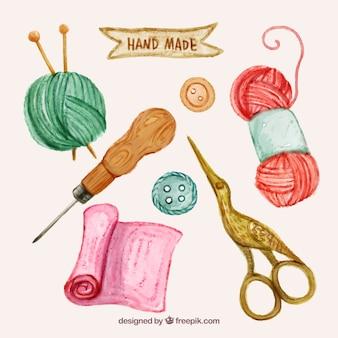 Elementi acquerello cucire insieme