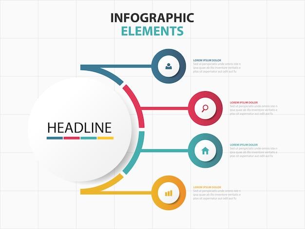 Elementi astratti di affari variopinti di infographics,