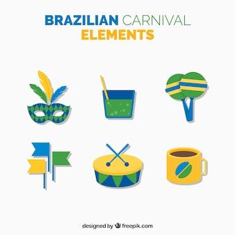 Elementi carnevale brasiliano