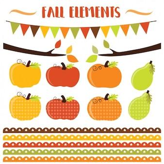 Elementi collezione autunno