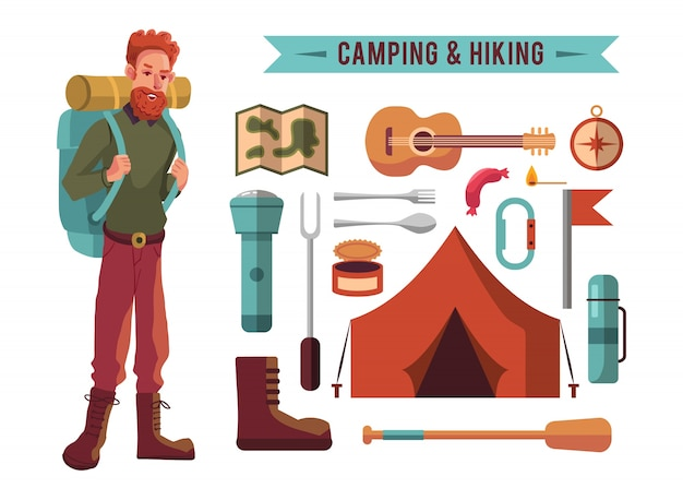 Elementi da campeggio collecti