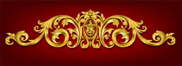 Elementi decorativi classici in stile barocco
