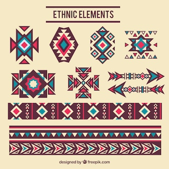 Elementi decorativi etnica