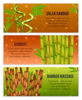 Elementi decorativi interni di bambù verde