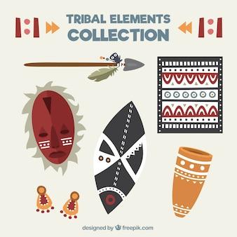 Elementi decorativi tribale impostato